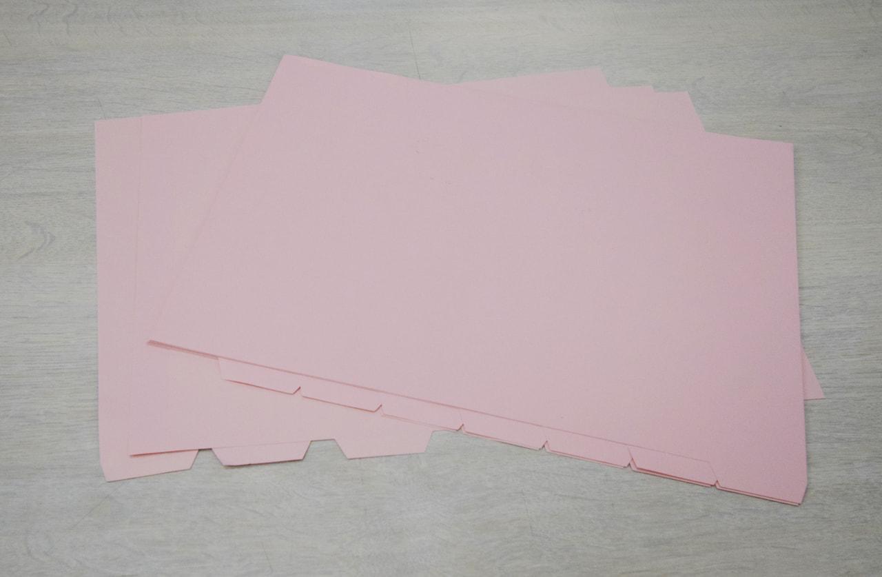 インデックス ピンク仕切紙【8ツ山】